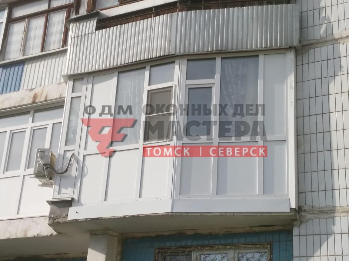 Остекление балкона с изгибом
