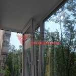 Теплое остекление балкона в Томске