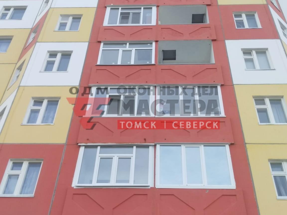 Остекление лоджии в Томске