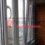 Остекление балкона с изгибом под ключ в Томске