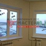 Пластиковые окна с тремя створками в Томске