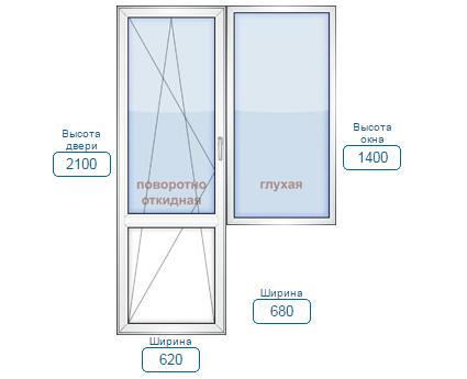 цены на пластиковые балконные блоки